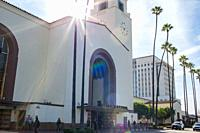 Union Station in Los Angeles was originally built in 1939 and a symbol of the great days of train travel.