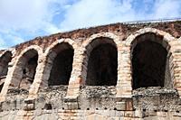 The Verona Arena on Piazza Bra in Verona Verona, Veneto, Italy