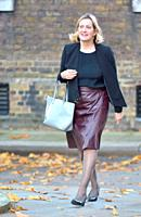 Amber Rudd MP (Con: Hastings and Rye) arriving in Downing Street, London, UK, 13/11/2018.