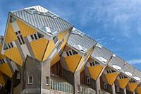 Yellow Cube Houses, Rotterdam, Holland.