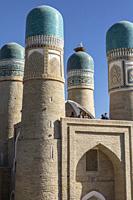 Detail, Char Minar medressa, Bukhara, Uzbekistan.