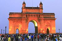 Gateway of India at Night, Mumbai, Maharashtra, India.