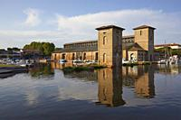 The historic Salt Storehouse in Cervia, Italy.