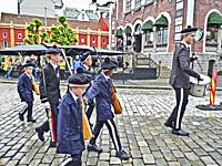 Parade in downtown Bergen, Norway.