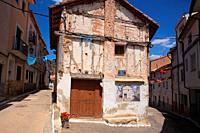 Serran or popular architecture in Cañete. Serranía de Cuenca. Spain.