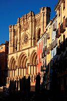 Cathedral in the Plaza Mayor. Cuenca. Spain.