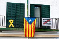 La Senyera Estelada is the flag waved by supporters seeking Catalonia's independence from Spain .
