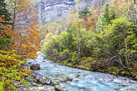 Ordesa Valley, National Park of Ordesa and Monte Perdido, Huesca, Spain.