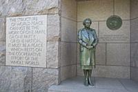 Statue of Eleanor Roosevelt, Franklin Delano Roosevelt Memorial, Washington D.C., USA