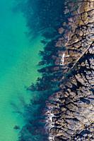Coastal landscape in La Ballena, Sonabia, Castro Municipality, Cantabrian Sea, Cantabria, Spain, Europe.
