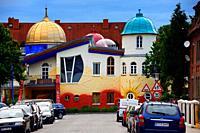 Kinderhaus Bayreuth at Munckerstrasse, interesting colorful architecture similar to Austrin architect Friedensreich Hundertwasser works by architect K...