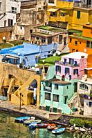 Procida, Phlegraean Islands, Gulf of Naples, Bay of Naples, Italy, Europe.