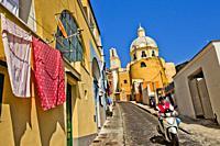 Chiesa della Madonna delle Grazie, Church, Procida, Phlegraean Islands, Gulf of Naples, Bay of Naples, Italy, Europe.