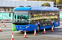 Electric bus, Feria Go Mobility Exhibition, Basque Sustainable Mobility and energy storage industry´s, Ficoba, Irun, Gipuzkoa, Basque Country, Spain, ...