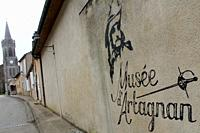 entree musee d'artagnan, lupiac, gers, occitanie.