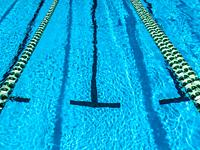 Ready and marked for a swimming race.