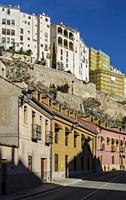 View of a street in Cuenca town. Spain.