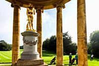 England, Buckinghamshire, Stowe, Stowe Landscape Gardens, The Rotunda and Stowe Golf Course