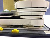 The Solomon R. Guggenheim Museum, made of Lego bricks. . . .