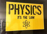 An iconic image which emphasizes the laws of physics.