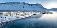 Winter, Isafjordur, West Fjords, Iceland.