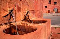 Fountain in the Plaza Mayor of Ródenas. Sierra Albarracín. Teruel.