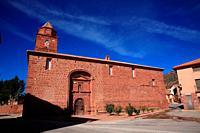 Church of Santa Catalina de Ródenas. Sierra Albarracín. Teruel.