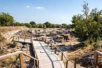 Ruins of ancient legendary city of Troy in Canakkale, Turkey.