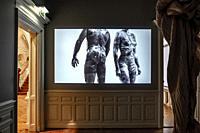 Video by artist Bart Hess in Museum Jan Cunen, Oss, The Netherlands, Europe.