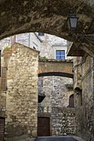 historic alley of the city of Narni, near Terni, Umbria, Italy.