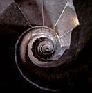 Spiral Staircase. La Sagrada Familia Basilica. Barcelona. Spain.