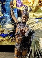 Samba Dancer at the Carnival Parade in Rio de Janeiro, Brazil.