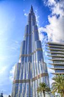 The Burj Khalifa tower, the tallest building in the world, at Dubai United Arab Emirates.