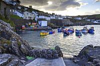 The picturesque fishing cove at Coverack on Cornwall's Lizard Peninsula, captured from the harbour slipway on an afternoon in late April.