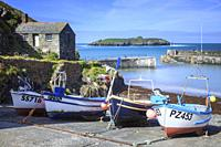Fishing Boats on the slipway at Mullion Cove on Cornwall's Lizard Peninsula, captured on a morning in early June.