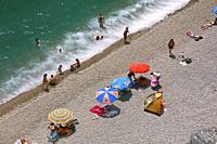 San Cristobal beach, Almuñecar, Granada province, Region of Andalusia, Spain, Europe.