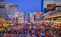 Japan, Tokyo City, Shinjuku ward, Shinjuku Station South Side.