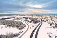 Winter, Reykjavik, Iceland.