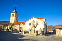 San Andres church. Rascafria, Madrid province, Spain.