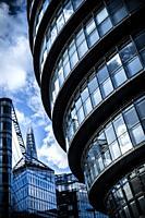 Modern office buildings in London SE1, London, England, UK.