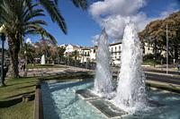 fountain and the Palace of Saint Lawrence, Funchal, Madeira, Portugal, Eu rope.