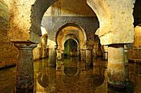 Arabic cistern. Old town of Caceres. Extremadura Spain