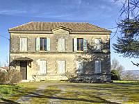 former boysâ. . school, Laparade, Lot-et-Garonne Department, Nouvelle Aquitaine, France.