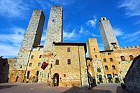 The so called twin towers of Sangimignano built in the 13th century as defensive towers and also to show prestige and wealth. The Council of San Gimig...