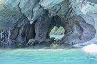 The surreal Marble Caves (Capilla de Mármol), Rio Tranquilo, Aysen, Patagonia, Chile.