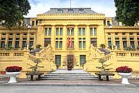 Exterior of the Supreme Peoples Court, Hanoi, Vietnam, Asia.