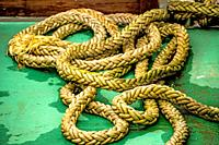 rope on a pier floor.