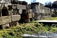 The ancient site of Kerameikos was divided into two parts by the walls of Athens, the so-called Themistoclean walls. The Themistoklean wall surrounds ...