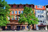 Hauptstrasse - street scene, old town of Forchheim, Forchheim, Franconian Switzerland, Upper Franconia, Franconia, Bavaria, Germany, Europe