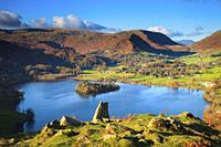 Grassmere in the Lake District National Park, captured from the north side of Loughrigg Fell on an afternoon in early November.